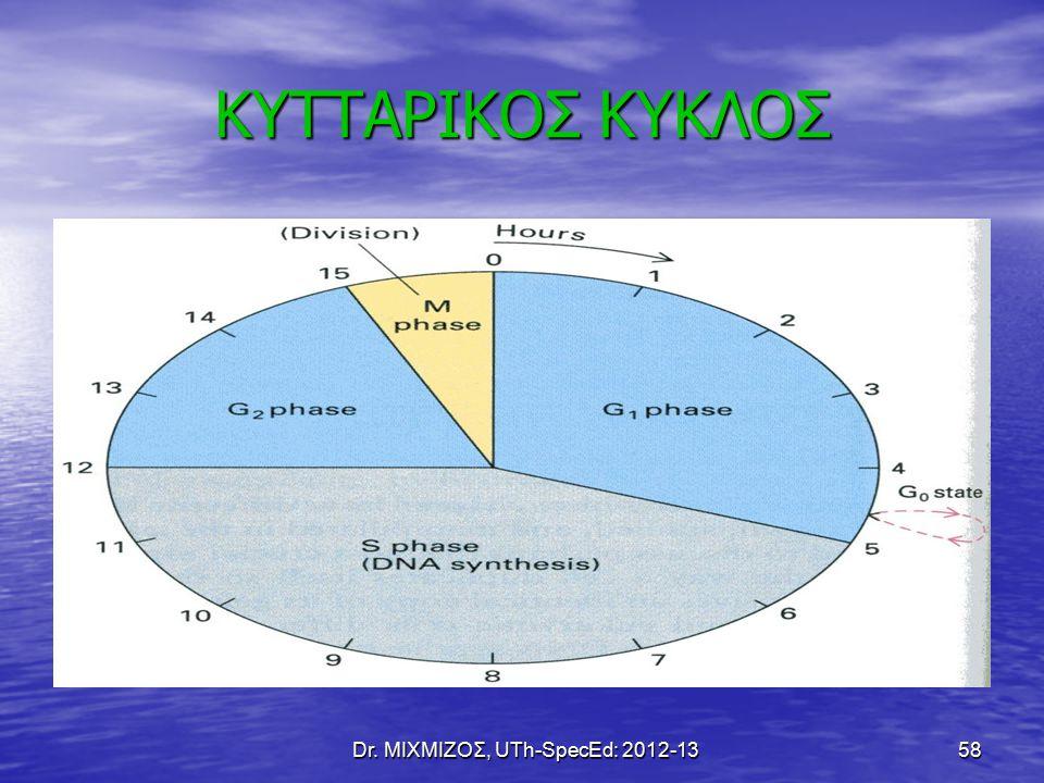 Dr. ΜΙΧΜΙΖΟΣ, UTh-SpecEd: 2012-13 58 ΚΥΤΤΑΡΙΚΟΣ ΚΥΚΛΟΣ