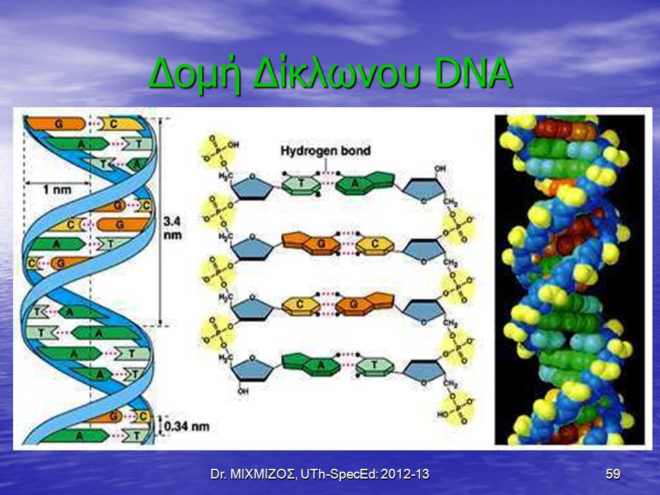 Dr. ΜΙΧΜΙΖΟΣ, UTh-SpecEd: 2012-1359 Δομή Δίκλωνου DNA