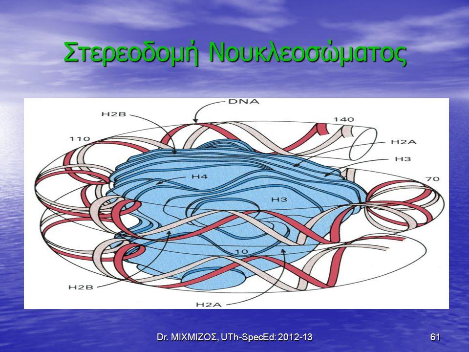 Dr. ΜΙΧΜΙΖΟΣ, UTh-SpecEd: 2012-13 61 Στερεοδομή Νουκλεοσώματος