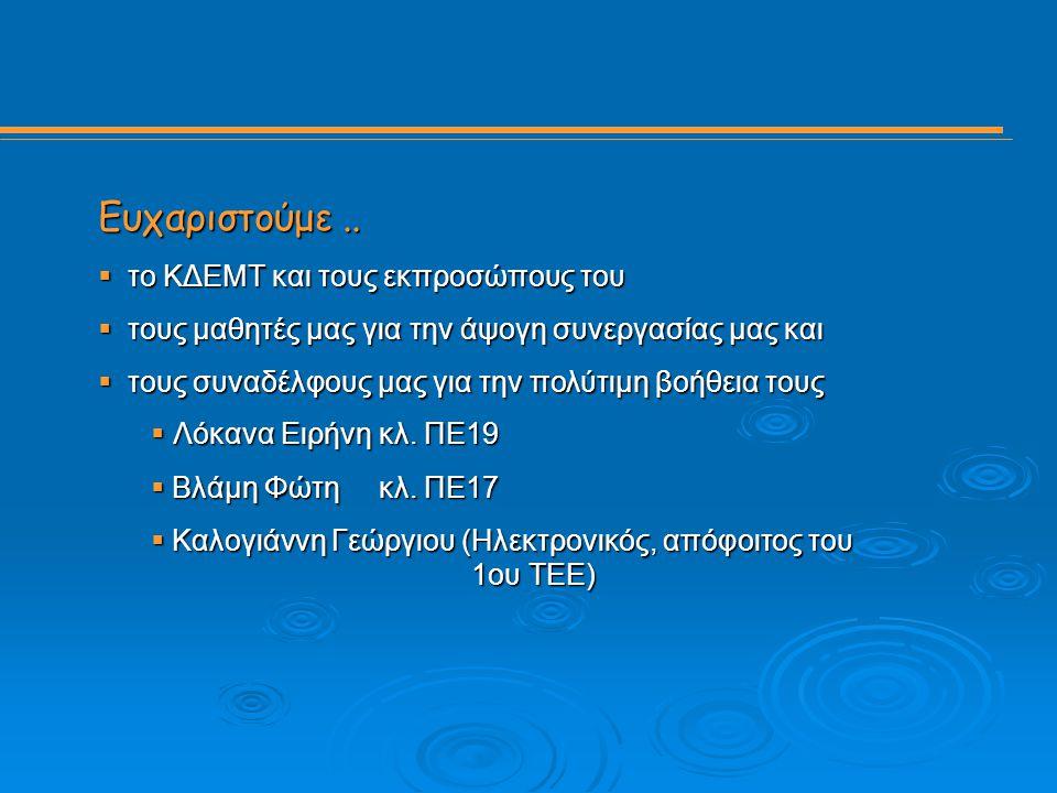 http://1epal-kozan.koz.sch.gr/skaki/ 19 Ευχαριστούμε Ευχαριστούμε..  το ΚΔΕΜΤ και τους εκπροσώπους του  τους μαθητές μας για την άψογη συνεργασίας μ