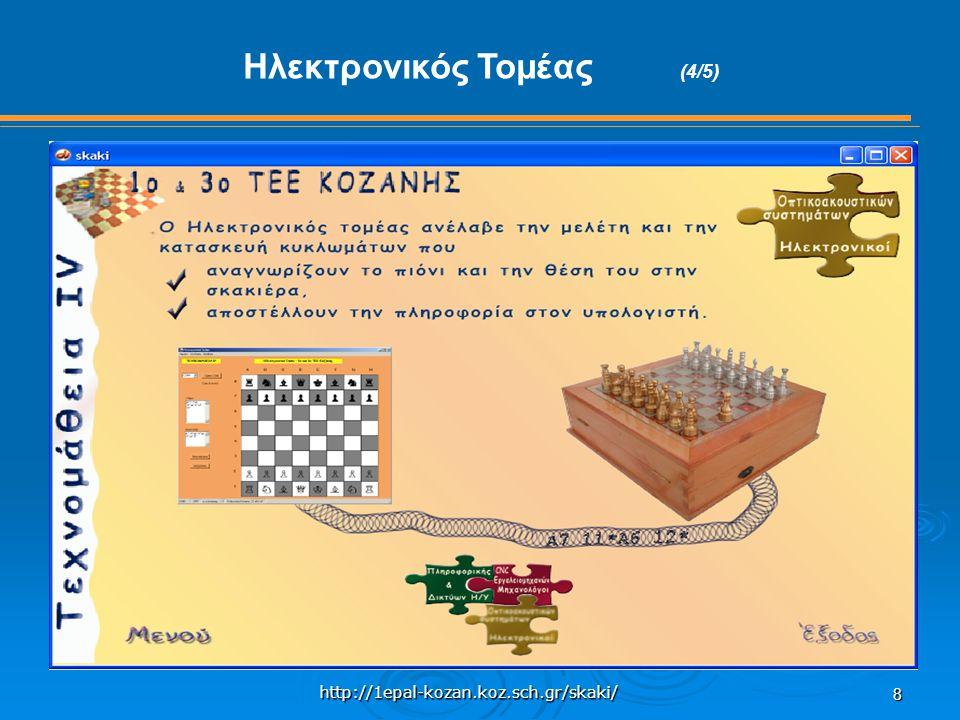 http://1epal-kozan.koz.sch.gr/skaki/ 8 Ηλεκτρονικός Τομέας (4/5)