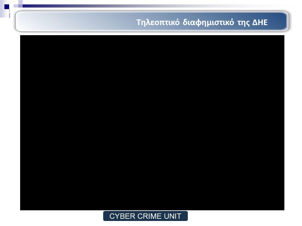 Απάτες μέσω διαδικτύου Cracking and hacking Προσωπικά Δεδομένα Δήλωση Αυτοκτονίας Μορφές εγκληματικότητας (2/2) CYBER CRIME UNIT