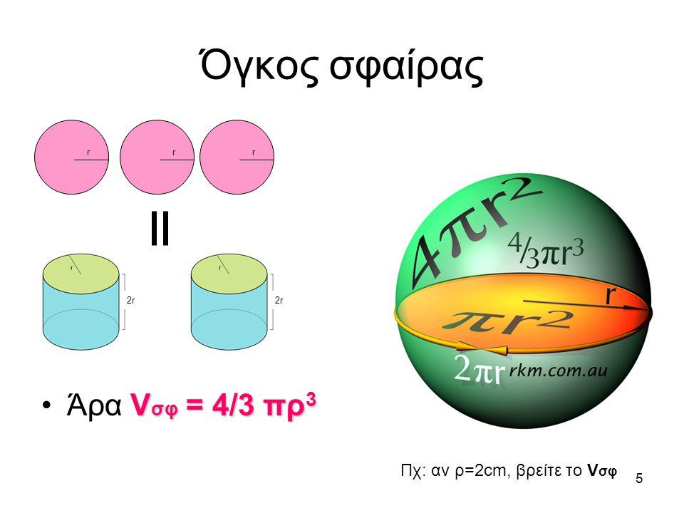 4 Εμβαδόν επιφάνειας σφαίρας Αρχιμήδης το υπολόγισε με μεγάλη ακρίβεια.