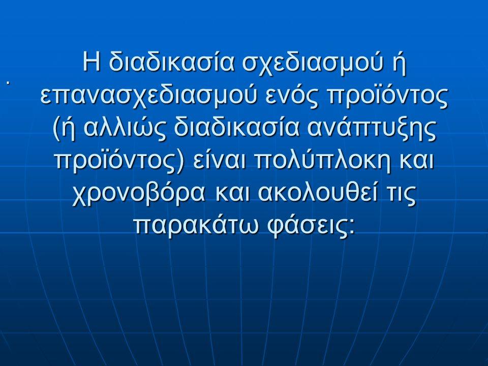 Ο Διευθυντής Σχεδιασμού Προϊόντων προκειμένου να λάβει τις τελικές αποφάσεις, πρέπει να συνεργαστεί με όλες τις Διευθύνσεις της Επιχείρησης εξετάζοντα