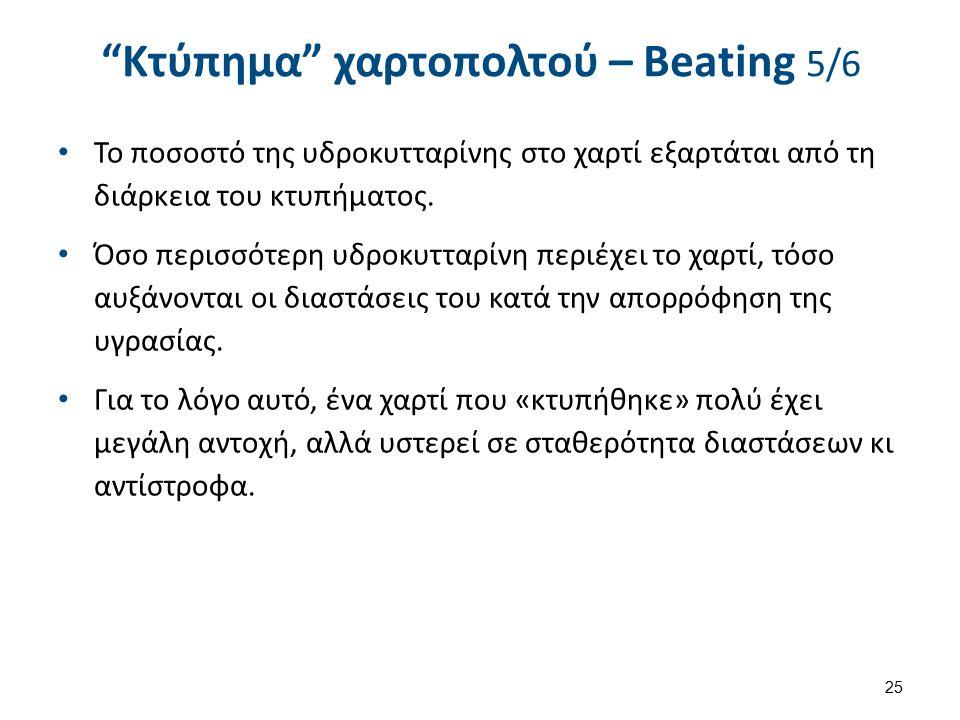 Κτύπημα χαρτοπολτού – Beating 6/6 26 Τελικά, Με το «κτύπημα» του χαρτοπολτού, τα μικροϊνίδια της κυτταρίνης ενώνονται.