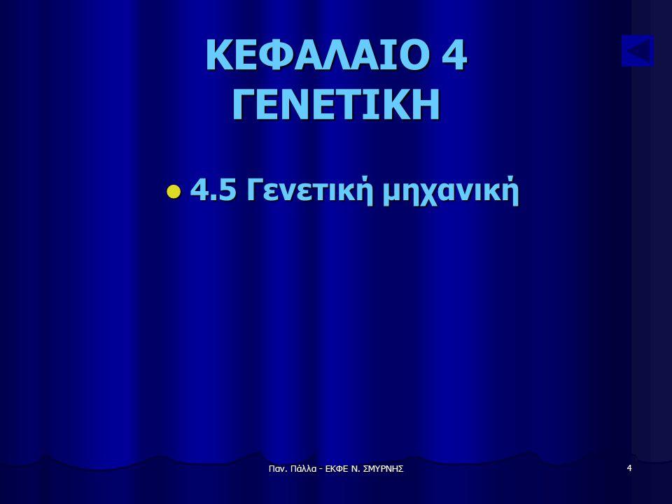 Παν. Πάλλα - ΕΚΦΕ Ν. ΣΜΥΡΝΗΣ 4 ΚΕΦΑΛΑΙΟ 4 ΓΕΝΕΤΙΚΗ 4.5 Γενετική μηχανική 4.5 Γενετική μηχανική