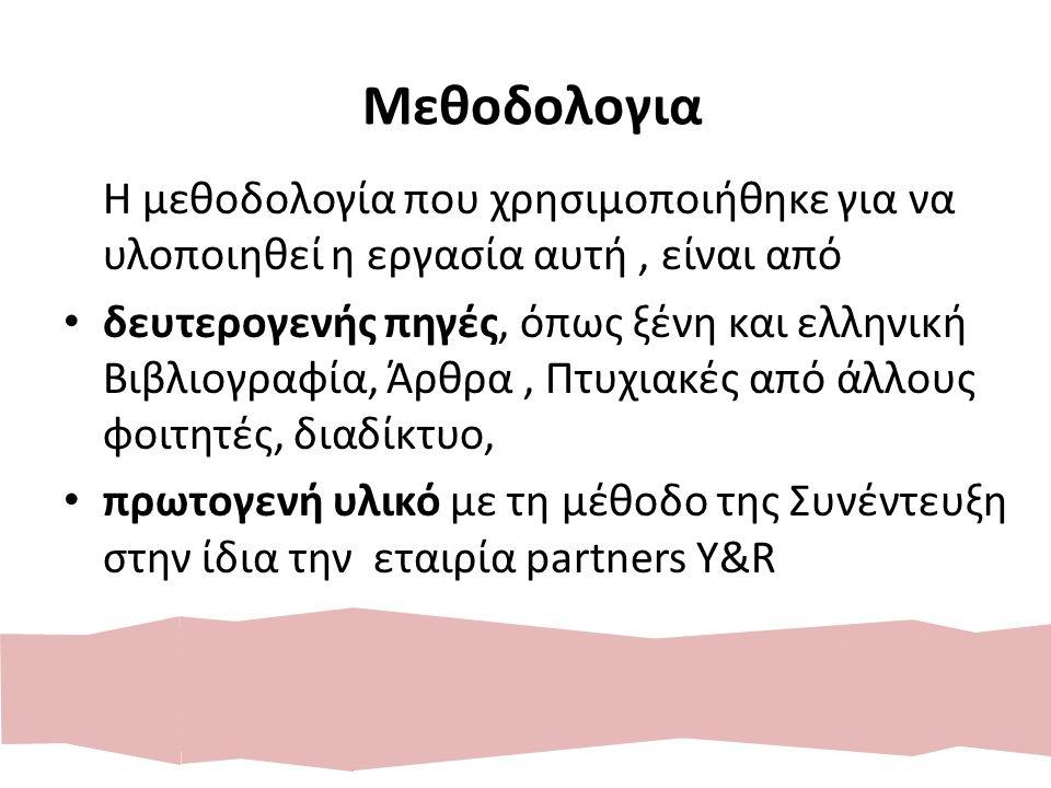 Μεθοδολογια Η μεθοδολογία που χρησιμοποιήθηκε για να υλοποιηθεί η εργασία αυτή, είναι από δευτερογενής πηγές, όπως ξένη και ελληνική Βιβλιογραφία, Άρθ