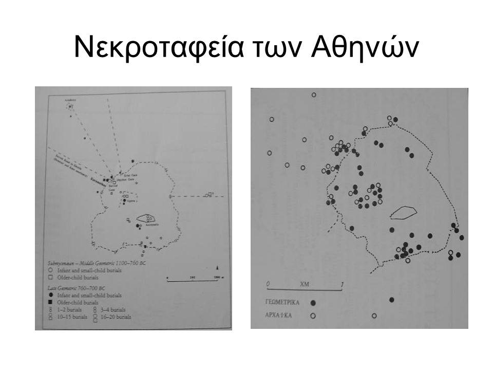 Η διάδοση των ταφικών μνημείων με κούρους και κόρες: 1. Αττική 2. Αθήνα.