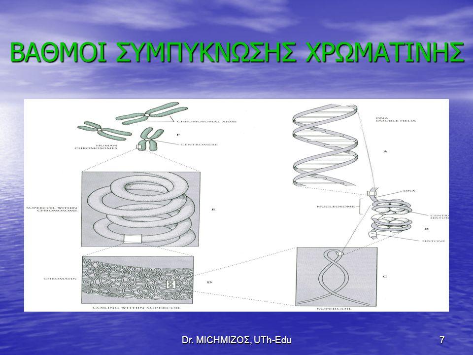 Dr. ΜΙCHΜΙΖΟΣ, UTh-Edu7 BAΘΜΟΙ ΣΥΜΠΥΚΝΩΣΗΣ ΧΡΩΜΑΤΙΝΗΣ