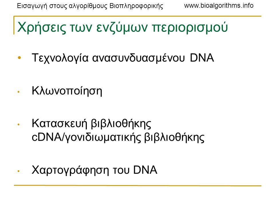 Εισαγωγή στους αλγορίθμους Βιοπληροφορικής www.bioalgorithms.info L = { 2, 2, 3, 3, 4, 5, 6, 7, 8, 10 } X = { 0, 2, 4, 7, 10 } Το L είναι πλέον άδειο, άρα βρήκαμε τη λύση, δηλαδή το X.