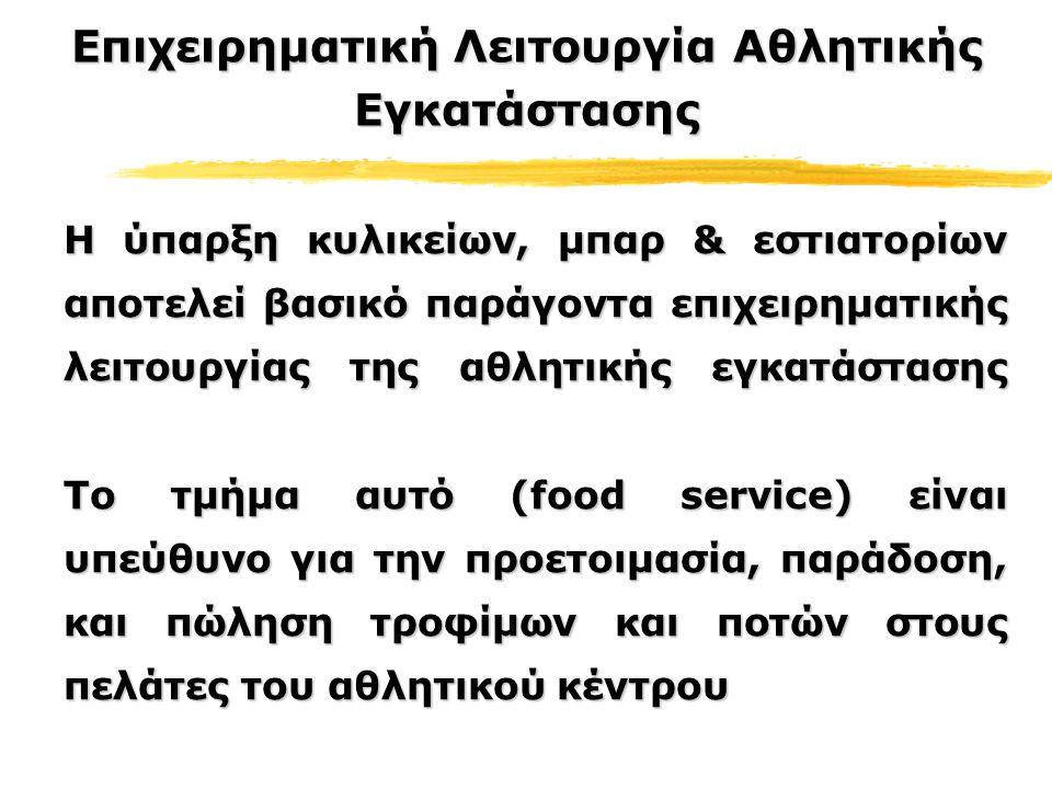 Τρόποι Λειτουργίας Του Τμήματος «Τροφίμων» Ψιλικά-Μικροπράγματα (Novelties) Ψιλικά-Μικροπράγματα (Novelties) Κέιτερινγκ (Catering) Κέιτερινγκ (Catering) Παραχώρηση (Concessions) Παραχώρηση (Concessions)