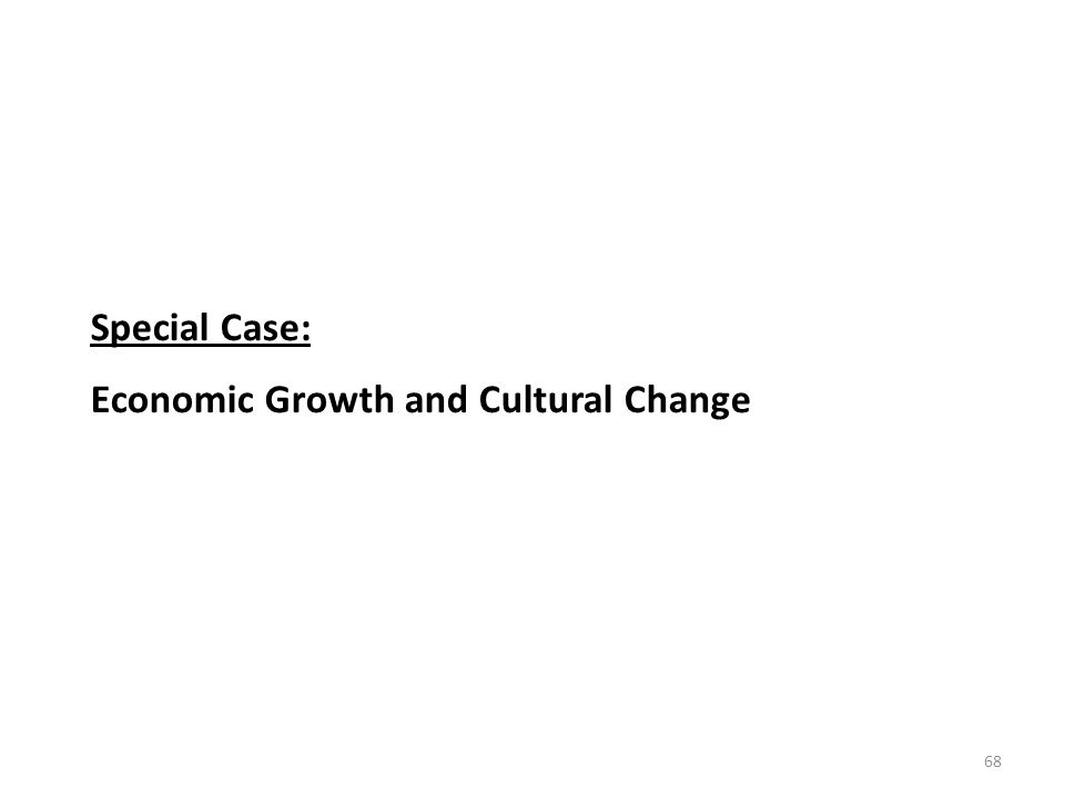 68 Special Case: Economic Growth and Cultural Change