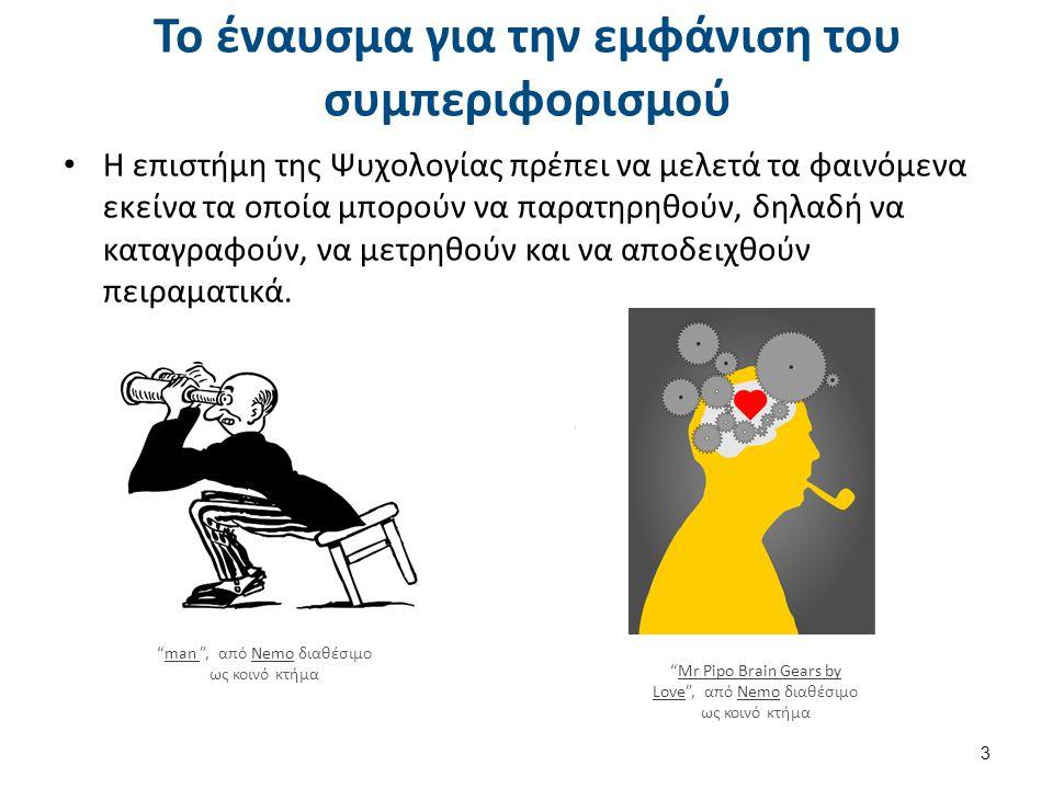 Το έναυσμα για την εμφάνιση του συμπεριφορισμού Η επιστήμη της Ψυχολογίας πρέπει να μελετά τα φαινόμενα εκείνα τα οποία μπορούν να παρατηρηθούν, δηλαδή να καταγραφούν, να μετρηθούν και να αποδειχθούν πειραματικά.