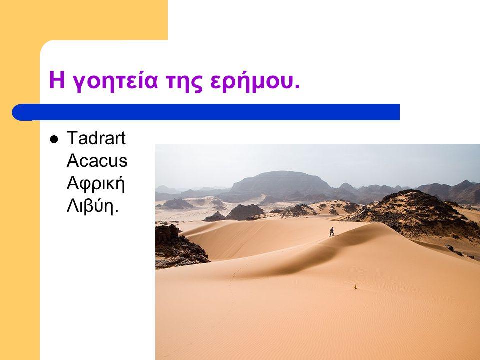 Η γοητεία της ερήμου. Tadrart Acacus Αφρική Λιβύη.