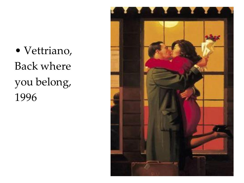 Vettriano, Back where you belong, 1996