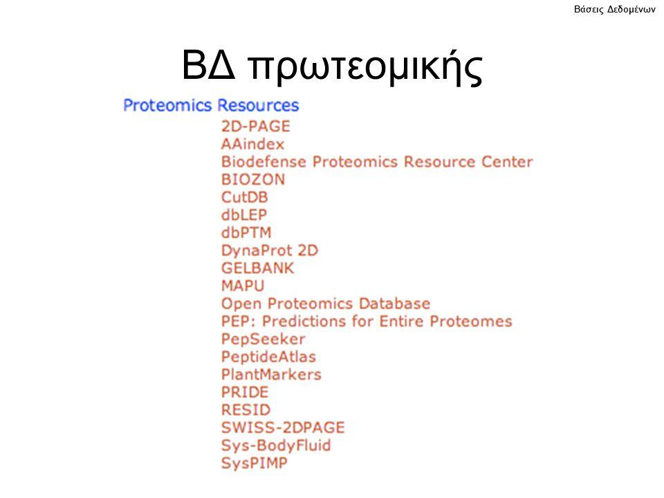 ΒΔ πρωτεομικής Βάσεις Δεδομένων
