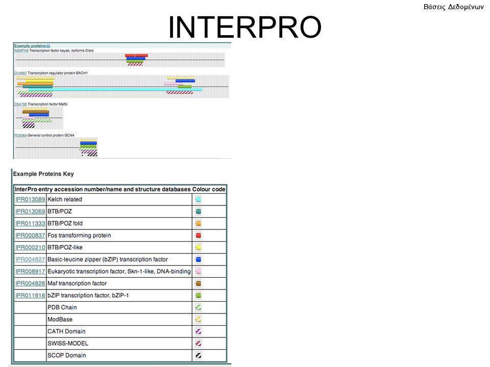 INTERPRO Βάσεις Δεδομένων