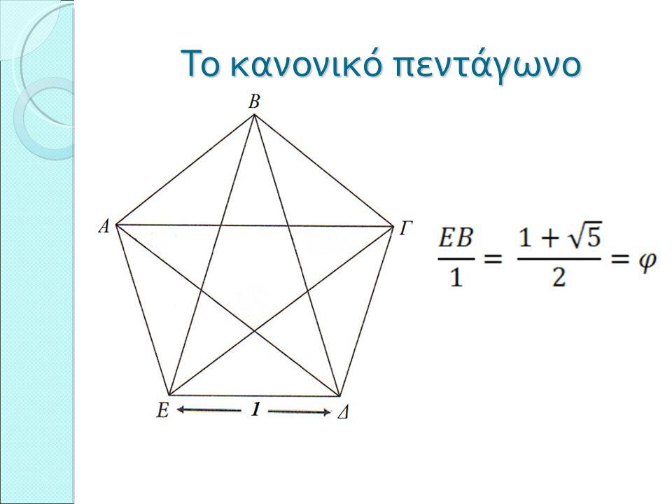 Το κανονικό πεντάγωνο