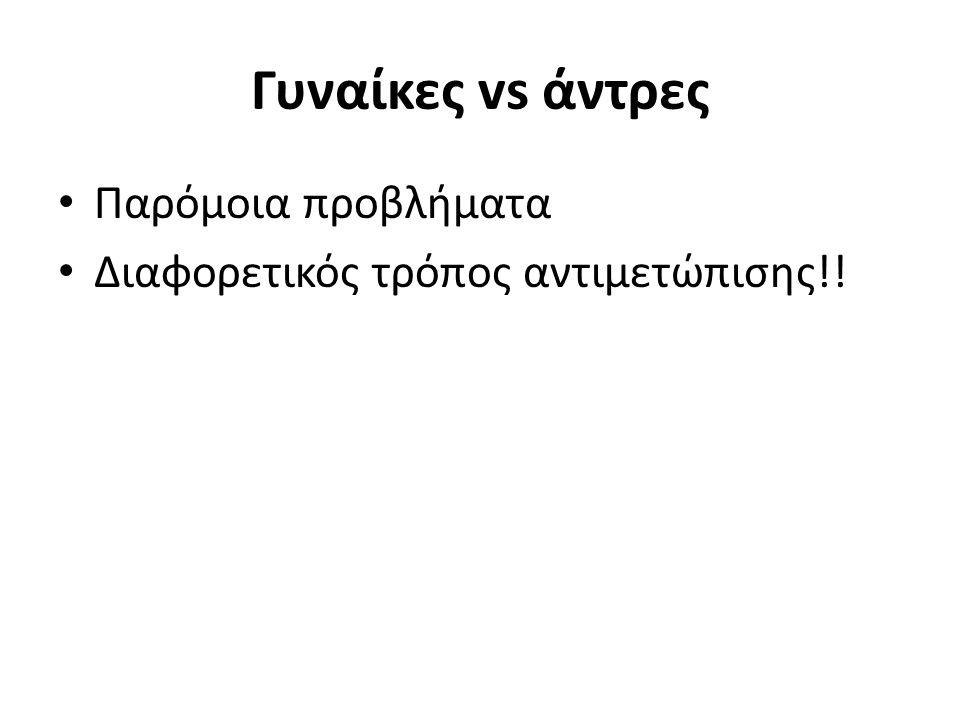 Διαφορές σε… Συνεργασίες Επικοινωνία (κριτική, οδηγίες-σχόλια) Αυτοπεποίθηση Συνοχή Αναπληρωματικοί-κες