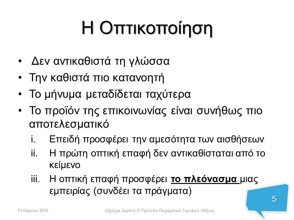 Η Οθόνη Υπάρχει παντού 6 31 Μαρτίου 2015Δήμητρα Δερτιλή 2 ο Πρότυπο Πειραματικό Γυμνάσιο Αθήνας