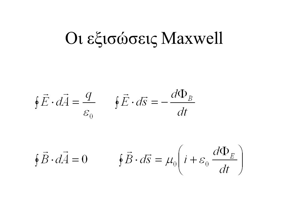 Οι εξισώσεις Maxwell