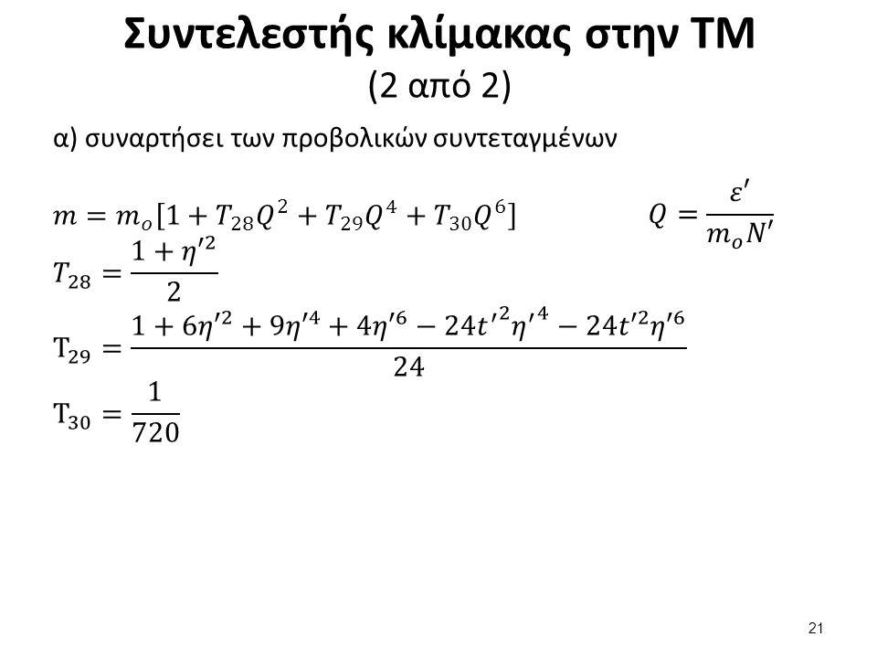 Συντελεστής κλίμακας στην ΤΜ (2 από 2) 21