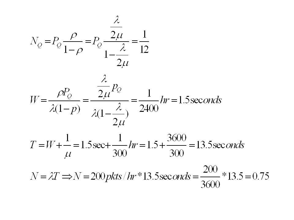 Για κάθε ένα από τα δύο ακόλουθα συστήματα υπολογίστε το χρόνο ενός πακέτου στο σύστημα.