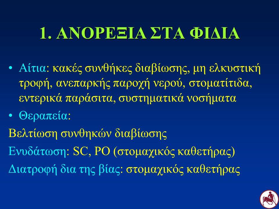 2.ΔΙΑΡΡΟΙΑ ΣΤΑ ΦΙΔΙΑ Παρασιτική: παρασιτολογική εξέταση κοπράνων.