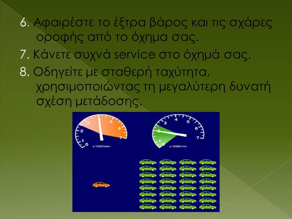 6.Αφαιρέστε το έξτρα βάρος και τις σχάρες οροφής από το όχημα σας.