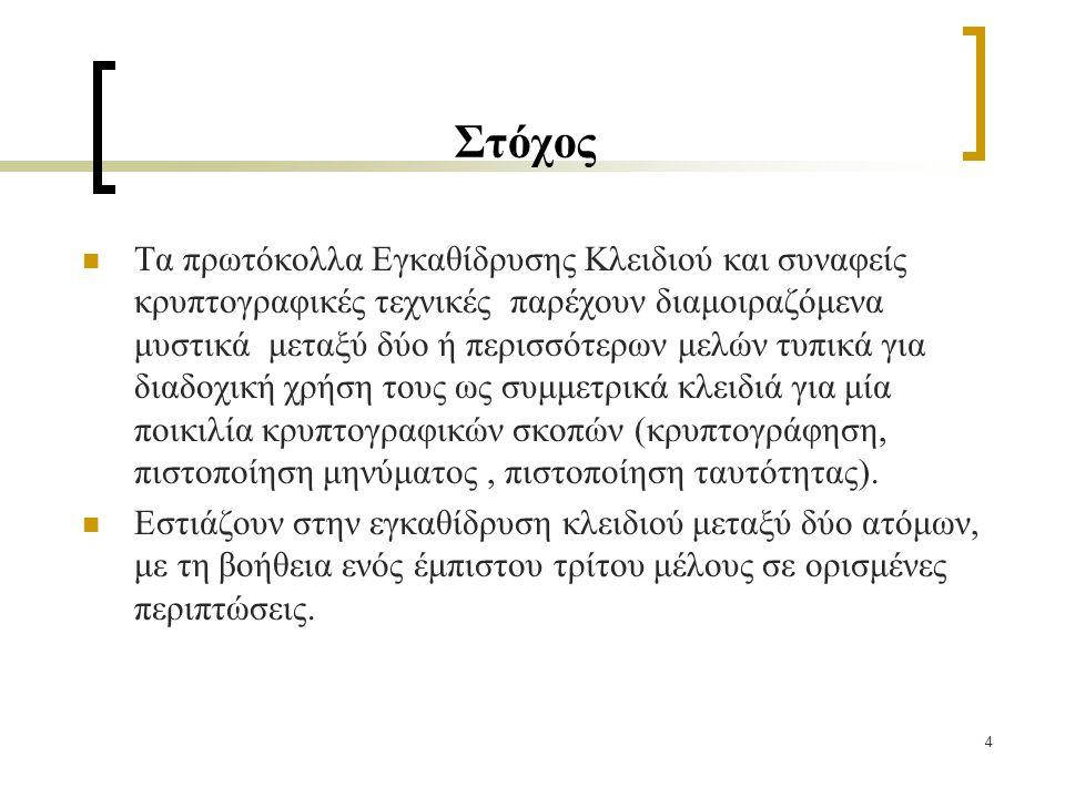 25 Πρωτόκολλο Shamir's (χωρίς κλειδί) II 3.Protocol actions.