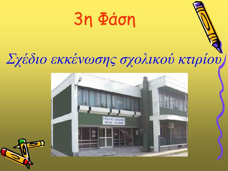 3η Φάση Σχέδιο εκκένωσης σχολικού κτιρίου