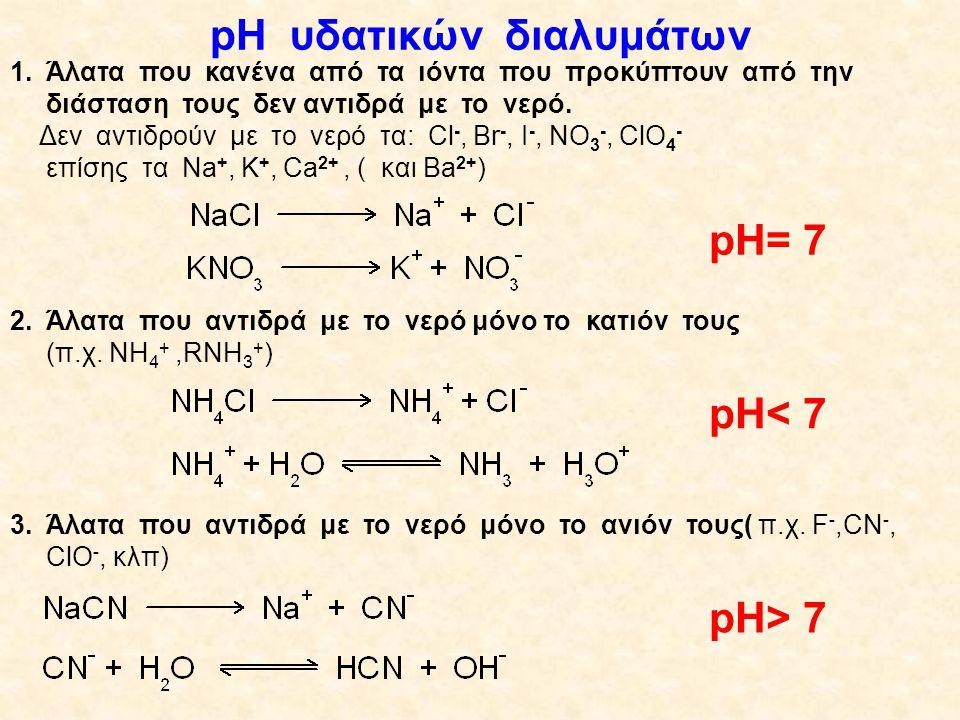Άλατα Μ +x A -y Μ y A x  Μ μέταλλο ή θετικό πολυατομικό ιόν και  Α αμέταλλο ή αρνητικό πολυατομικό ιόν,όπου: Όλα τα άλατα είναι ιοντικές ενώσεις και διίστανται: κλπ, κλπ