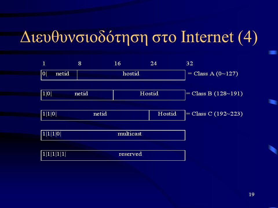 19 Διευθυνσιοδότηση στο Internet (4)