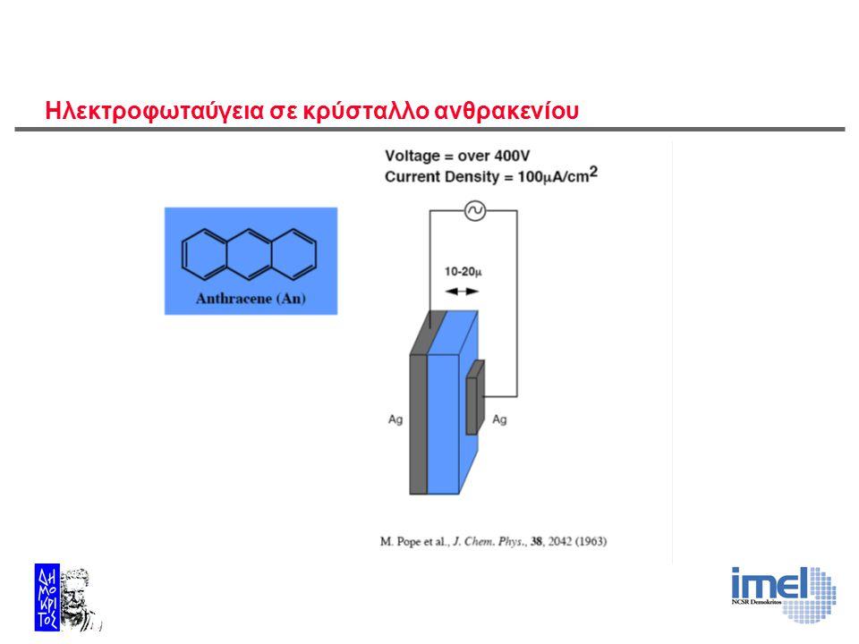 Ηλεκτροφωταύγεια σε κρύσταλλο ανθρακενίου
