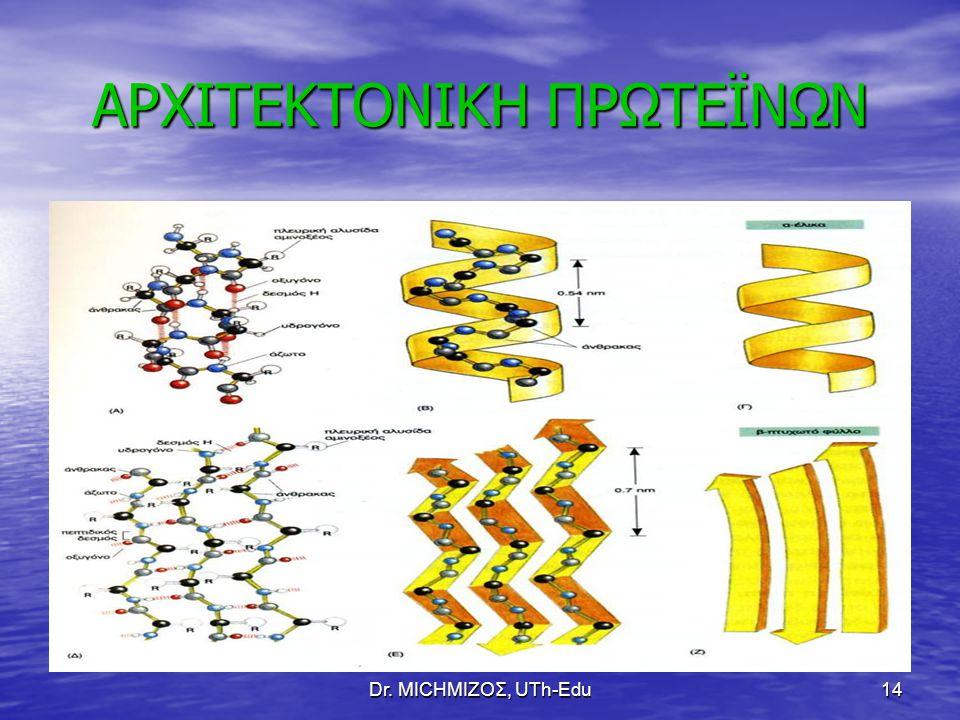 Dr. ΜΙCHΜΙΖΟΣ, UTh-Edu14 ΑΡΧΙΤΕΚΤΟΝΙΚΗ ΠΡΩΤΕΪΝΩΝ