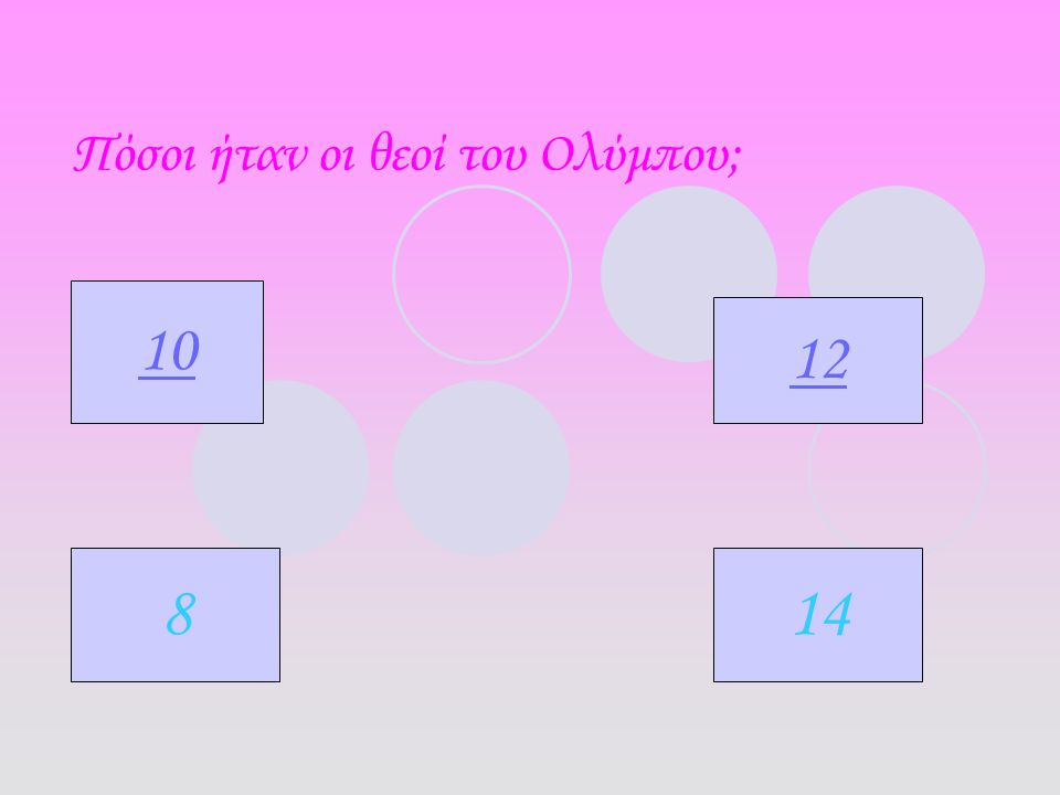 Πόσοι ήταν οι θεοί του Ολύμπου; 10 12 814