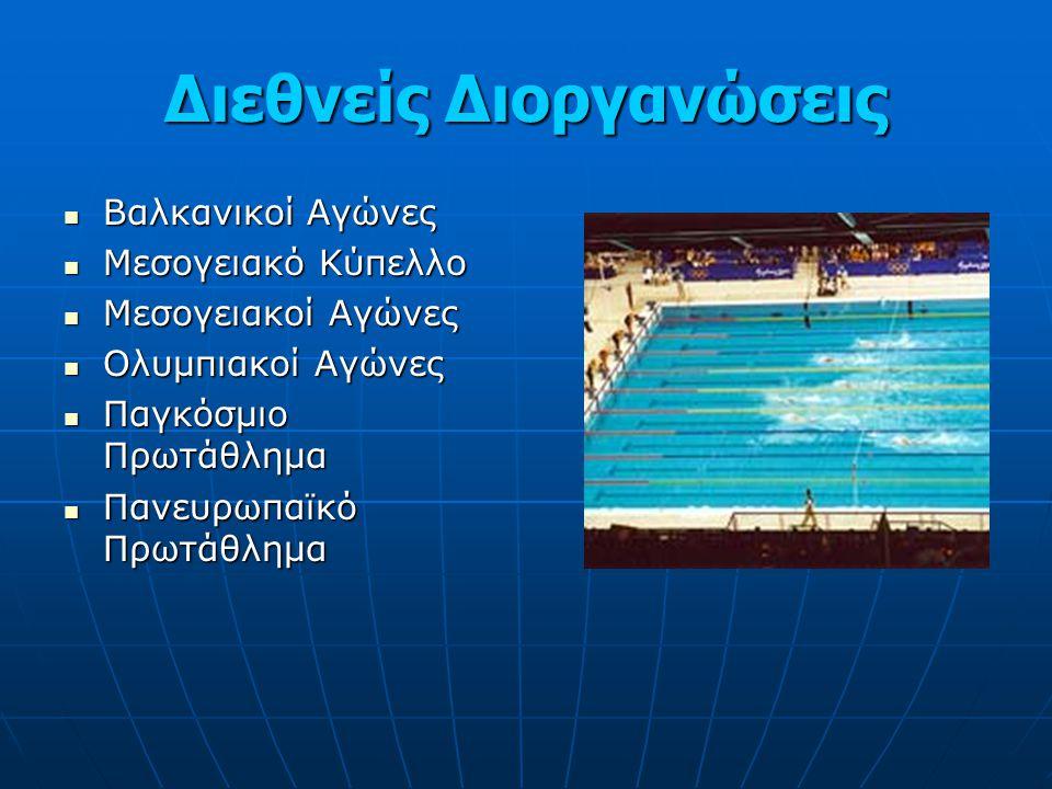 Διεθνείς Διοργανώσεις Βαλκανικοί Αγώνες Βαλκανικοί Αγώνες Μεσογειακό Κύπελλο Μεσογειακό Κύπελλο Μεσογειακοί Αγώνες Μεσογειακοί Αγώνες Ολυμπιακοί Αγώνε