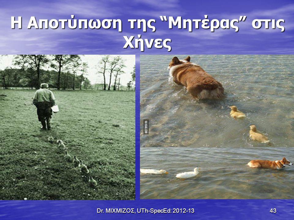 "Dr. ΜΙΧΜΙΖΟΣ, UTh-SpecEd: 2012-13 43 Η Αποτύπωση της ""Μητέρας"" στις Χήνες"