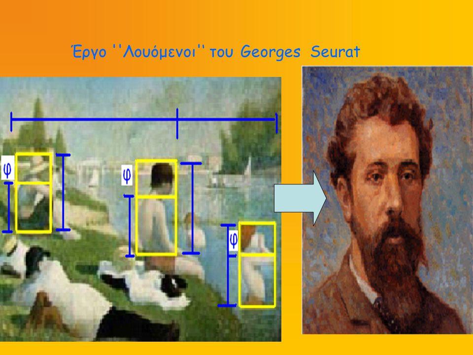 Έργο ''Λουόμενοι'' του Georges Seurat