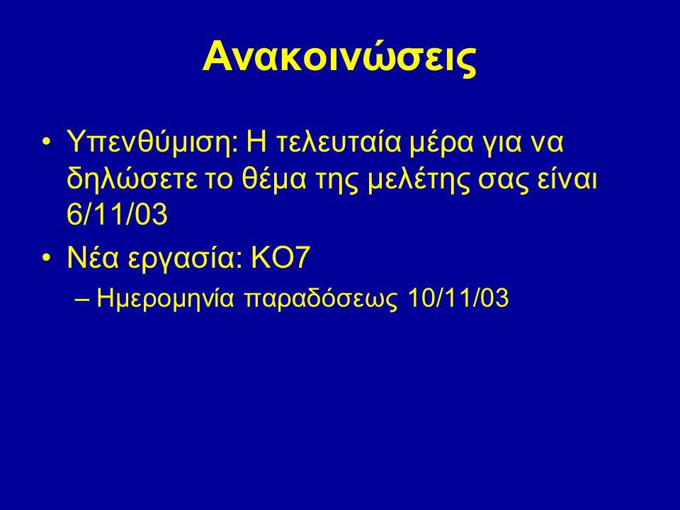Πύλη Αντιστροφής NOT (Inverter) AF F = A' A 0 1 1 0 NOT Το F είναι σωστό (1) αν το Α είναι λάθος (0)