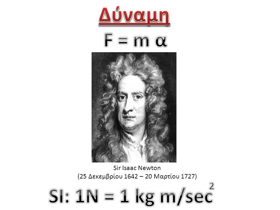 Sir Isaac Newton (25 Δεκεμβρίου 1642 – 20 Μαρτίου 1727)
