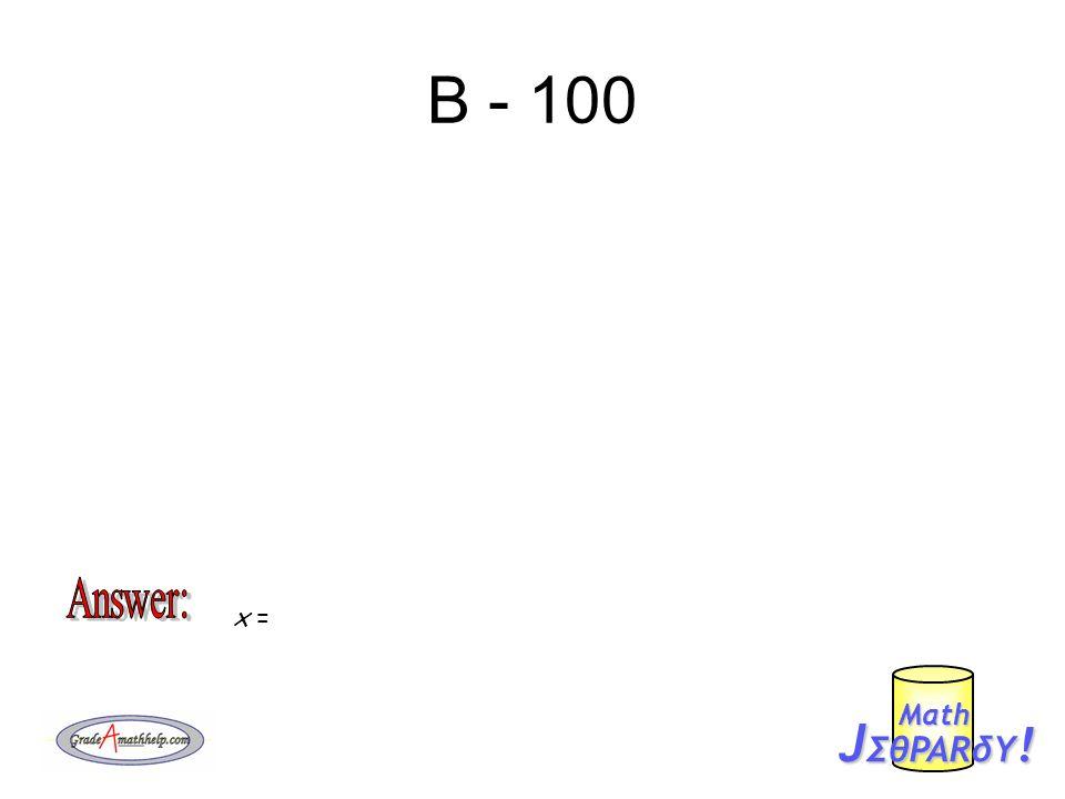 D - 200 J ΣθPARδY ! Mαth x =