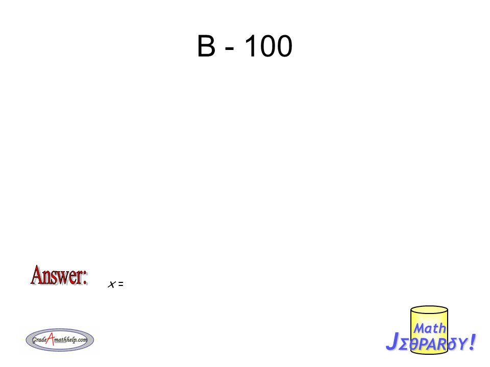 B - 200 J ΣθPARδY ! Mαth x =