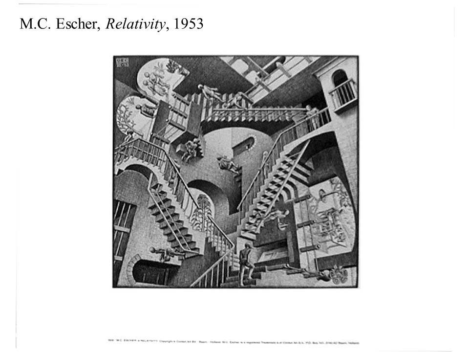 M.C. Escher, Relativity, 1953