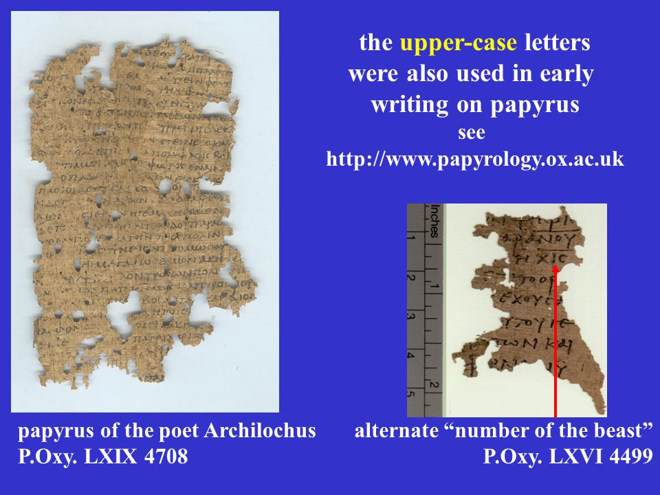 papyrus of the poet Archilochus P.Oxy.