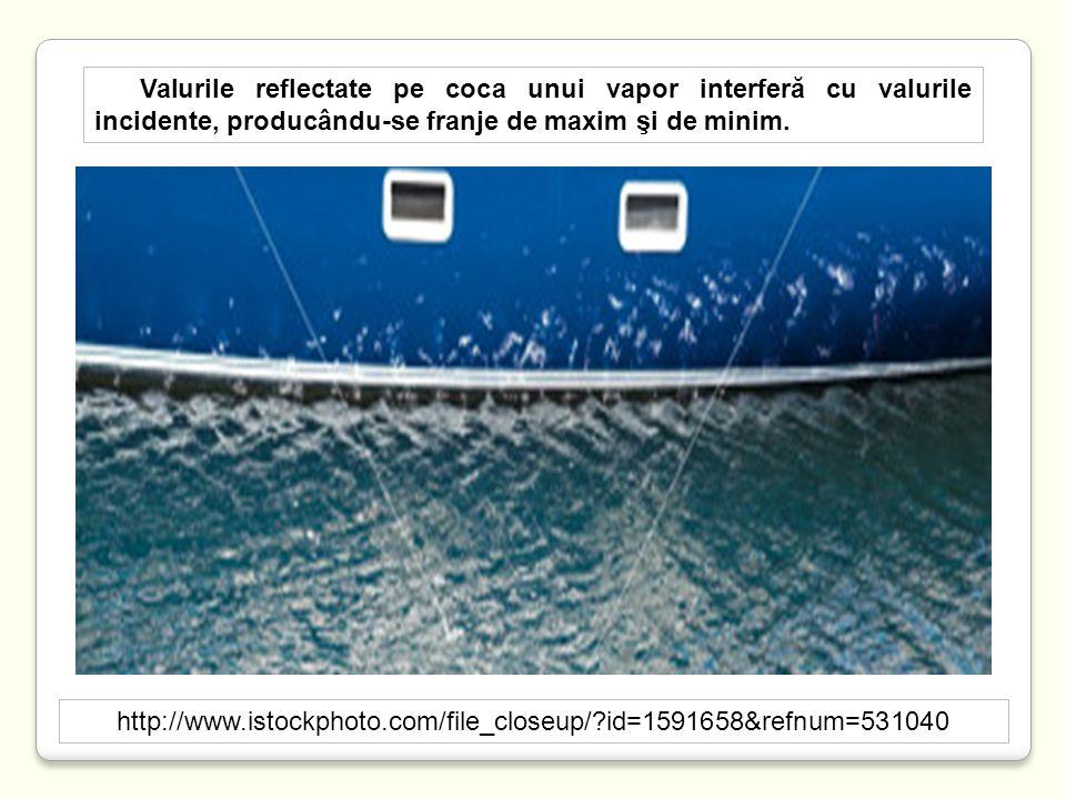 http://www.istockphoto.com/file_closeup/?id=1591658&refnum=531040 Valurile reflectate pe coca unui vapor interferă cu valurile incidente, producându-s