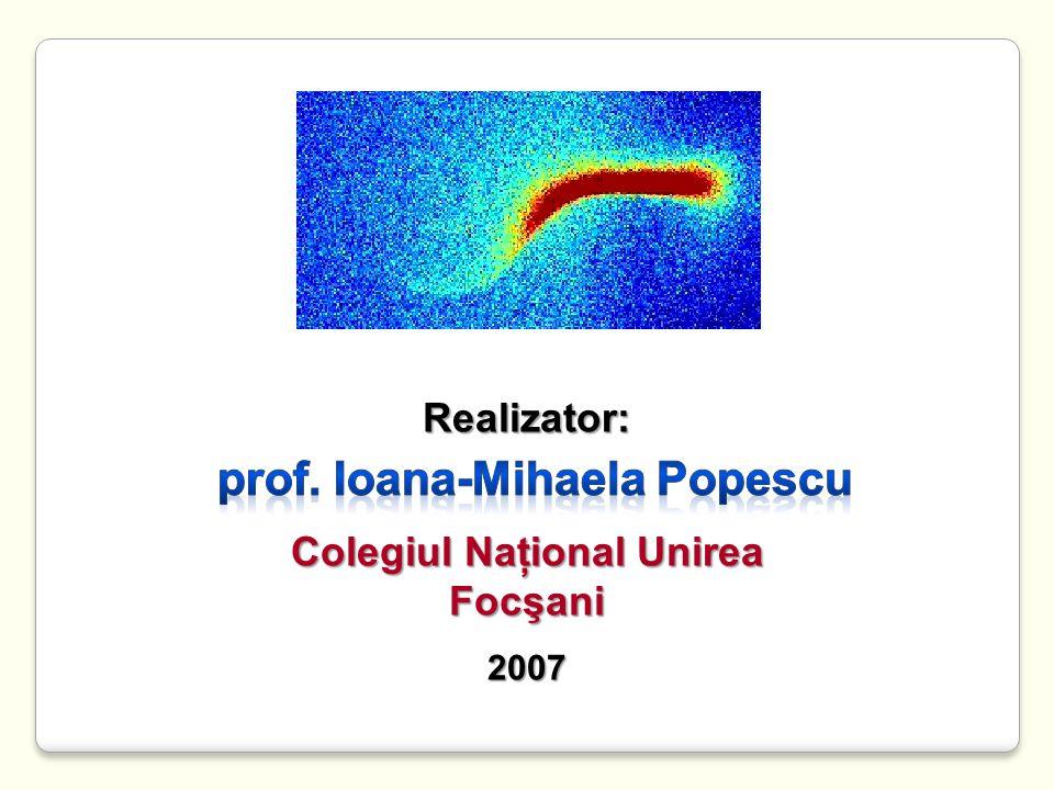 Realizator: Colegiul Naţional Unirea Focşani2007
