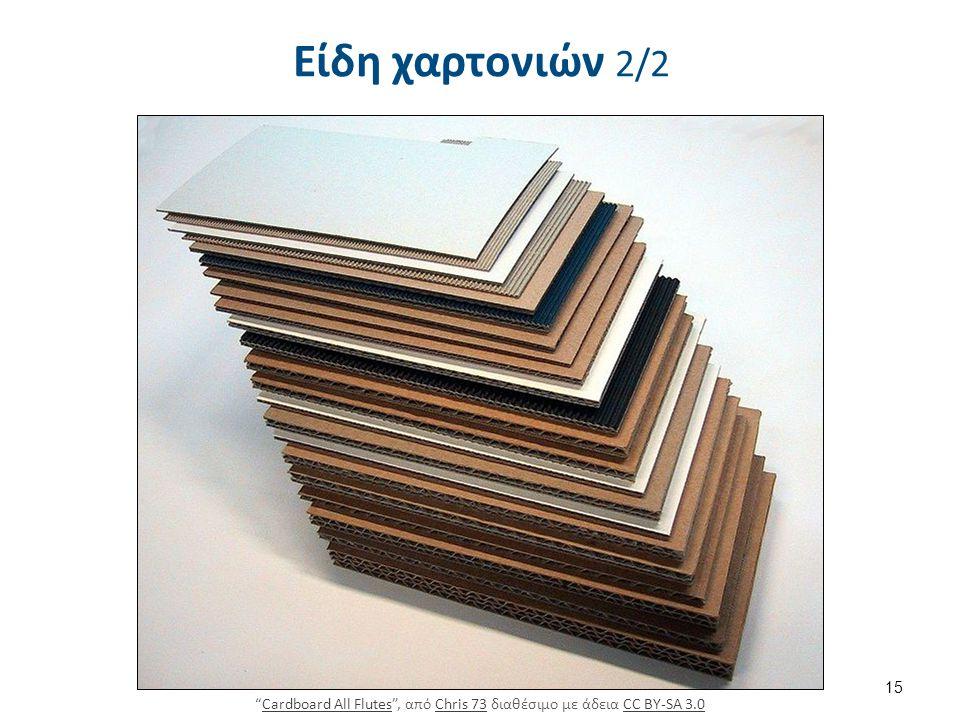 Είδη χαρτονιών 2/2 15 Cardboard All Flutes , από Chris 73 διαθέσιμο με άδεια CC BY-SA 3.0Cardboard All FlutesChris 73CC BY-SA 3.0