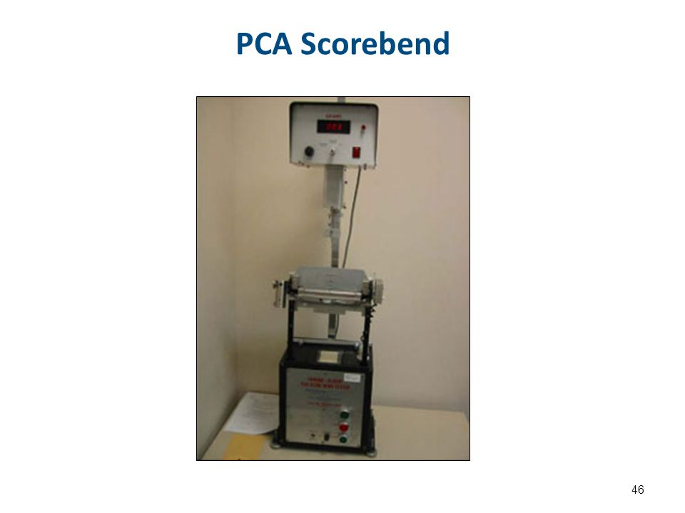PCA Scorebend 46