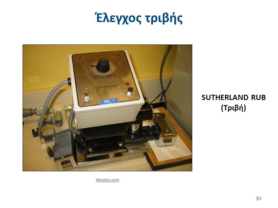 SUTHERLAND RUB (Τριβή) Έλεγχος τριβής 51 docstoc.com